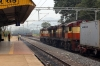 VSKP WDG3A's 14544/13200 arrive into Singupur Road with a freight from the north while VSKP WDG3A triple set 14524/14636/14534 arrive with a freight from the south