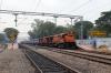 KGP WDM3A's 16711/16110 wait departure from Parvatipuram with 18111 1835 (P) Tatanagar - Yesvantpur Jn
