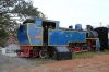Restored and plinthed X Class steam loco in the railway museum adjacent to Mettupalayam station