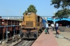 BNDM WDM3A 16165 at Rayagada Jn with 18006 0415 Jagdalpur - Howrah; BNDM WDM3D 11412 was backing onto the opposite end to work forward