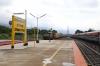 GOC WDM3A 16632 arrives into Sengottai with 16102 1155 Quillon Jn - Chennai Egmore (GOC WDG3A 13499 is on the rear as banking loco from Punalur ro Sengottai)