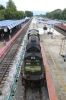 GOC WDG3A 14669 waits departure from Sengottai with 16182 1625 Sengottai - Chennai Egmore