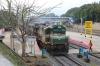 GOC WDG3A's 13457/13436 wait to depart Sengottai with 12662 1810 Sengottai - Chennai Egmore (which they will work to Madurai Jn)