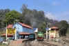ONR X Class steam loco 37399 arrives into Coonoor with 56136 0710 Mettupalayam - Udagamandalam (Ooty) and will be replaced by GOC YDM4 6724 for the run to Ooty, GOC YDM4 6664 stands in the opposite platform after arriving with 56139 0915 Udagamandalam (Ooty) - Coonoor