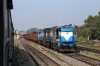 R WDG3A's 13594/13592 at Sambalpur Jn with a freight
