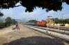 BNDM WDM3A 16118 arrives into Muniguda with 18301 0600 Sambalpur Jn - Rayagada