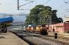 VSKP WDM3A's 16239/16313 with dead WDM3D 11536 arrive into Muniguda with 58527 0530 Raipur Jn - Visakhapatnam