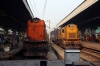 KGP WDM3A 16310 on the blocks at Howrah having brought a set of empties into the station and BNDM WDM3D 11146 having arrived with the weekly 22804 1955 (P) Sambalpur Jn - Howrah