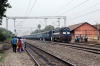 JMP WDM3A 16608 arrives Guskara with 12338 1310 Bolpur - Howrah