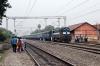 JMP WDM3A 16608 arrives Guskara with 12338 1310 Bolpur - Howrah