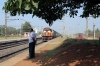 VSKP WDM3D 11512 arrives into Mancheswar with 18303 0600 Sambalpur Jn - Puri