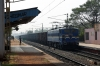 TKD WAG7 27457 runs through Mancheswar with an empty coal rake