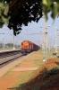 KGP WDM3A 16131 runs through Mancheswar with a freight