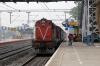 HWH WDM3A 14132 arrives into Prantik with 13017 0605 Howrah - Azimganj Jn