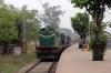 UDL WDG3A's 14770/13629 (14770 is shut down) shunt a coach into the bay platform at Rampurhat