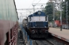 NGC WDG3A 14844 runs through Rampurhat with an oil train