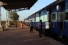 VTA WDG3A 13484 at Jhagadiya with the only train of the day to Rajpipla, 59167 1630 Ankleshwar Jn - Rajpipla passenger