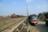 SPJ WDM3A 16045 arrives into Sakri Jn with 12569 1200 Jaynagar - Anand Vihar Terminus Garib Rath