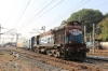 RTM WDM3S 018608 departs Mumbai Bandra Terminus with the stock off 19708 0840 (P) Jaipur Jn - Bandra Terminus