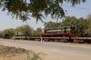 SBI YDM4's 6666 & 6557 on a BG flat wagons stabled at Marwar Jn, en-route from IZN to SBI