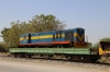 SBI YDM4 6557 on a BG flat wagon stabled at Marwar Jn, en-route from IZN to SBI