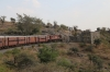 FL outbased MVJ YDM4 6655 approaches the ghat section summit at 657.8m with 52075 1400 Marwar Jn - Mavli Jn
