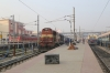 MGS WDM3A 16057 at Patna Jn with a passenger rake
