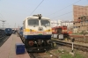 MGS WDM3A 18998 stabled at Patna Jn with SPJ WDP4D's 40526/40492 in the bay