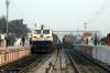 SGUJ WDP4D 40129 at Darbhanga Jn with 12565 0835 Darbhanga Jn - New Delhi Jn with SPJ WDG3A 13405 standing alongside with 55254 0810 Darbhanga Jn - Samastipur Jn passenger