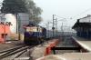 MLDT WDM3A 16007 arrives into Barauni Jn with 15715 0600 Kishanganj - Ajmer Jn