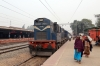 SPJ WDG3A 13402 stands at Mansi Jn with 55223 1220 Katihar Jn - Darbhanga Jn