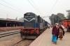 SPJ WDG3A 13402 stands at Mansi Jn with 55223 1220 Katihar Jn - Darbhanga Jn