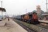HWH WDM3A 16040 at Sakri Jn with 53041 0715 (P) Howrah - Jaynagar - running 6 hours late