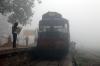 SPJ WDM3A 16655 at Saharsa Jn after arrival with 15280 1600 (PP) Adarsh Nagar Delhi - Saharsa Jn; which arrived 12h45m late!