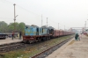 NKE YDM4 6514 waits departure from Sakri Jn with 52517 0830 Sakri Jn - Laukaha Bazar