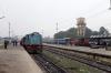 NKE YDM4 6514 waits departure from Sakri Jn with 52517 0830 Sakri Jn - Laukaha Bazar while SPJ WDG3A 13389 arrives with 55519 0605 Samastipur Jn - Jaynagar