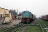 NKE YDM4 6514 waits departure from Jhanjharpur Jn with 52517 0830 Sakri Jn - Laukaha Bazar