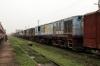 Jhanjharpur Jn scrap line No.1 - NKE YDM4s 6510, 6682, 6532, 6458, 6551