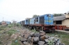 Jhanjharpur Jn scrap line No.2 - NKE YDM4's 6512, 6495, 6592, 6590 with serviceable 6465