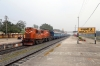 SPJ WDG3A 13389 waits to depart Sakri Jn with 13225 1105 Jaynagar - Rajendranagar
