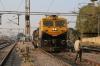 JHS WDG4D 70559 waits to depart Jhansi Jn with 51805 1725 Jhansi Jn - Banda Jn passenger