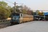 GMO WAG7 27084 waits to depart Jhansi Jn with 51831 1815 Jhansi Jn - Agra Cantt