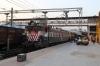 AJNI WAG7 27263 (with KTE WDG4D 70725 dead inside) waits at Jhansi Jn with 51828 1810 Jhansi Jn - Itarsi Jn passenger