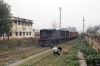 NKE YDM4 6513 shunts stock at Saharsa Jn; by the old signalbox at the Mansi end of the station