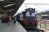ET WDM3A 16352 waits to depart Jabalpur Jn with 11265 1400 Jabalpur Jn - Ambikapur