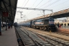 Lucknow Jn (L-R) - GD WDM3A 16690 after arrival with 15203 2030 (P) Barauni Jn - Lucknow Jn, AJNI WAP7 30304 & GD WDM3A 16207 arriving with 15107 0500 Chhapra Jn - Mathura Jn