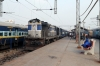 LKO WDM3A 18500 at Lucknow Jn with 22453 1440 Lucknow Jn - Meerut City