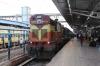 VSKP WDM3A 14005 waits departure from Bhubaneswar with 12892 1710 Bhubaneswar - Bangriposi