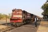 FL YDM4 6739 waits to depart Khambli Ghat with 09601 1230 Mavli Jn - Marwar Jn