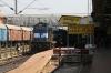 ET WDM3A 16714 pauses at Jabalpur Jn with 17609 2310 (P) Patna Jn - Purna Jn